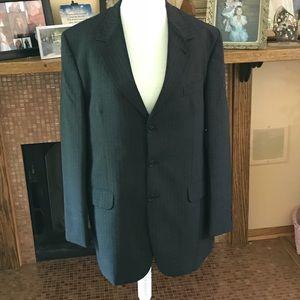Men's Two Piece Charcoal Pinstriped Blazer & Pants